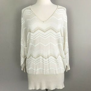 NWT Lane Bryant Thin Open Knit Striped Sweater